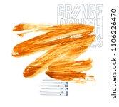 orange brush stroke and texture.... | Shutterstock .eps vector #1106226470