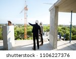two engineers or architects... | Shutterstock . vector #1106227376