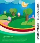 world environment day concept... | Shutterstock .eps vector #1106227886