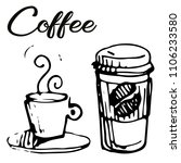 vector illustration of coffee... | Shutterstock .eps vector #1106233580