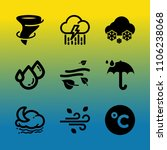 vector icon set about weather... | Shutterstock .eps vector #1106238068