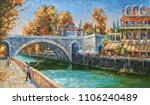 oil painting on canvas.... | Shutterstock . vector #1106240489
