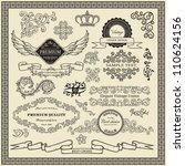 set od vintage design elements. | Shutterstock .eps vector #110624156