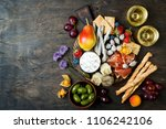 appetizers table with italian... | Shutterstock . vector #1106242106