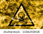 poisonous substances hazard... | Shutterstock . vector #1106243018