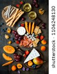 appetizers table with italian... | Shutterstock . vector #1106248130
