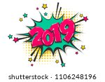 2019 happy new year christmas... | Shutterstock .eps vector #1106248196