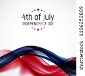 fourth of july  independence... | Shutterstock . vector #1106253809