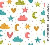 cute childish seamless pattern... | Shutterstock .eps vector #1106260280