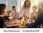 a group of multi ethnic friends ... | Shutterstock . vector #1106262209