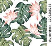 tropical vintage strelitzia... | Shutterstock .eps vector #1106268293