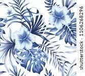 tropical vintage hibiscus... | Shutterstock .eps vector #1106268296