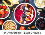 smoothie bowl from fresh... | Shutterstock . vector #1106270366
