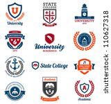 set of university and college... | Shutterstock . vector #110627318