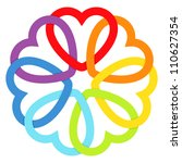 rainbow connected hearts.vector ... | Shutterstock .eps vector #110627354