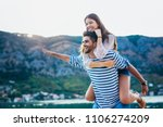 couple in love  enjoying the... | Shutterstock . vector #1106274209