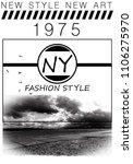 new york illustration photo... | Shutterstock . vector #1106275970