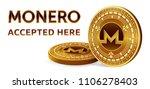 monero. accepted sign emblem.... | Shutterstock .eps vector #1106278403