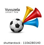 vuvuzela trumpet football fan.... | Shutterstock .eps vector #1106280140