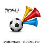 vuvuzela trumpet football fan.... | Shutterstock .eps vector #1106280140