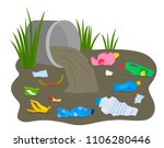 a pile of waste and debris...   Shutterstock .eps vector #1106280446