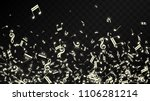 miracle musical notes on black...   Shutterstock .eps vector #1106281214