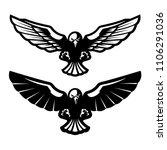 bird of prey attacks vector...   Shutterstock .eps vector #1106291036