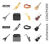 electric guitar  loudspeaker ... | Shutterstock .eps vector #1106294300