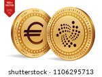 iota. euro coin. 3d isometric... | Shutterstock .eps vector #1106295713