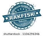 rakfisk rubber stamp | Shutterstock .eps vector #1106296346