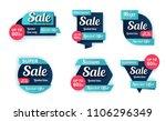 set of sale banners design.... | Shutterstock .eps vector #1106296349