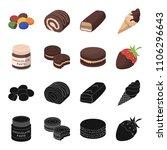 chocolate pasta  biscuit ... | Shutterstock .eps vector #1106296643