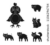 toy animals black icons in set... | Shutterstock .eps vector #1106296754