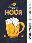 happy hour beer banner with... | Shutterstock .eps vector #1106300078