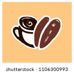 coffee cup logo with a grain... | Shutterstock .eps vector #1106300993