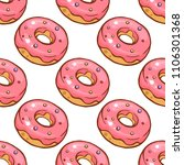 seamless pattern with colorful ... | Shutterstock . vector #1106301368