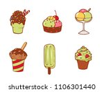 set of tasty delicious ice...   Shutterstock . vector #1106301440