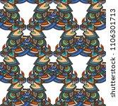 ethnic boho seamless pattern.... | Shutterstock . vector #1106301713