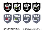 8 shield shaped vector two...   Shutterstock .eps vector #1106303198