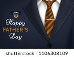 happy fathers day greeting.... | Shutterstock .eps vector #1106308109