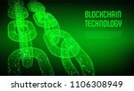 block chain. crypto currency.... | Shutterstock .eps vector #1106308949