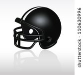 football helmet   black | Shutterstock .eps vector #110630996
