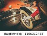 classic car buyer inspection....   Shutterstock . vector #1106312468