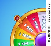 realistic spinning wheel of... | Shutterstock .eps vector #1106313686