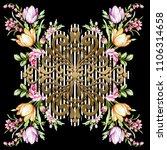 silk scarf design  fashion... | Shutterstock . vector #1106314658