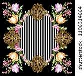 silk scarf design  fashion... | Shutterstock . vector #1106314664