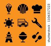 equipment  portrait  restaurant ... | Shutterstock .eps vector #1106317223