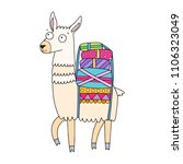 cool and cute llama... | Shutterstock .eps vector #1106323049