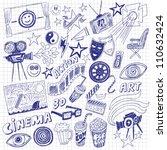 cinema doodles   Shutterstock .eps vector #110632424