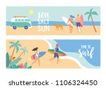 horizontal banners. young... | Shutterstock .eps vector #1106324450